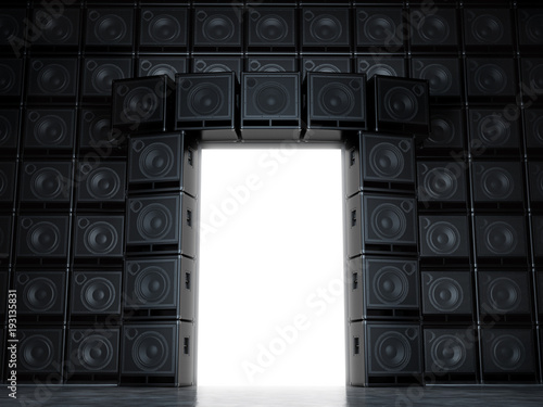 Epic portal of guitar amps Wallpaper Mural