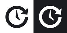 Vector Update Icon. Two-tone V...