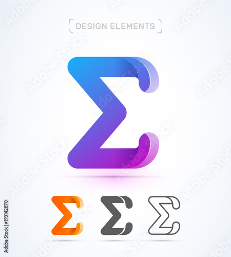 Fotografie, Obraz  Vector abstract Letter E logo template