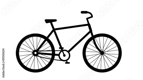 b29c1af734d Stock Video of Animated pictogram, icon of a moving classic bike. The  wheels and pedals of the bicycle rotate. Looped with alpha channel. at  Adobe Stock ...