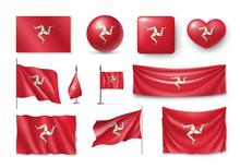 Set Isle Of Mann Flags, Banner...
