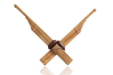 Kan Thai-Lao Reed Mouth Organ Old Traditional Musical Instrument  Used In Esan Folk Music