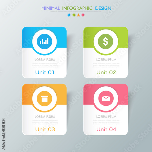 Business  infographic  template  the concept is circle option step with  full co Plakat
