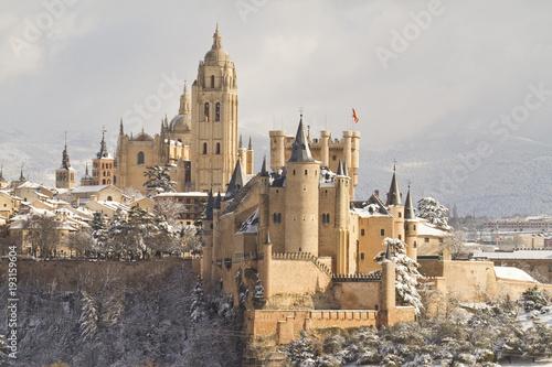 Alcazar of Segovia Landscape, Castile and Leon, Spain
