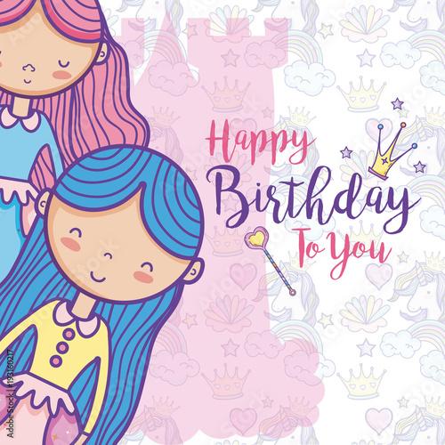 Poster Pony Happy birthday card for girls