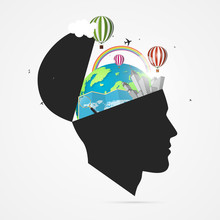 Mind Of Traveler. Creative Con...