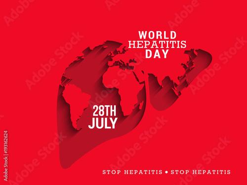 Obraz World hepatitis day illustration - fototapety do salonu