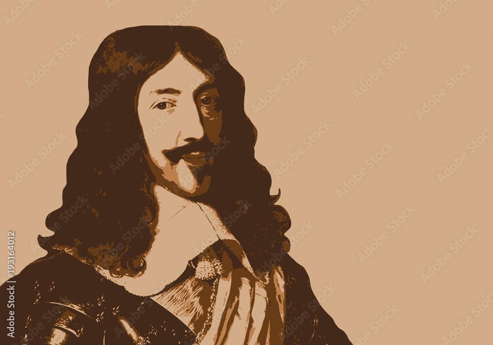 Fototapeta Louis XIII - portrait - roi de France - personnage historique - personnage célèbre - histoire