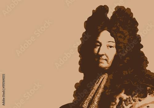 Louis XIV - portrait - roi de France - personnage historique - personnage célèbr Canvas Print