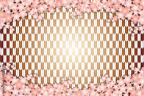 背景素材壁紙桜の花春入学卒業年賀状はがきテンプレート正月和風