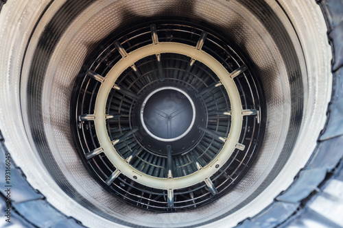 Inside of exhaust a military jet engine,Which can see the temperature sensor Wallpaper Mural