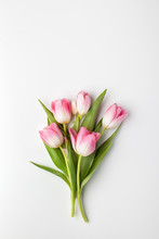 Pink Tulip Flowers Bouquet On ...