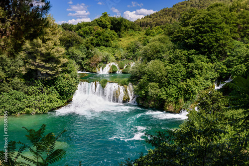 Foto op Canvas Watervallen water and waterfall at Krka National Park, Croatia
