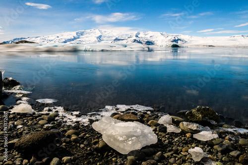 Poster Glaciers jokulsarlon glacier lagoon landscape, Iceland