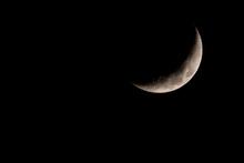 Nice Mystical Half Moon On Dar...