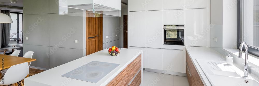 Fototapety, obrazy: Luxurious white kitchen