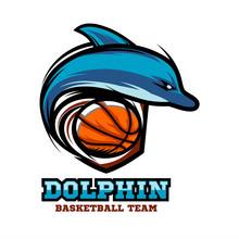 Dolphin Basketball Logo Vector