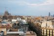 Aerial view of Barcelona with Sagrada Familia