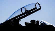 Silhouette Of Airplane Dome Of...