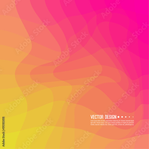 Fototapety, obrazy: Distorted wave colorful texture. Abstract dynamical rippled surface. Vector stripe deformation background. Transition and gradation of color.
