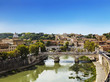 The view on Rome from the Castel Sant'angelo, Italy