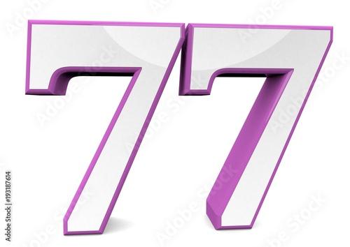 Fotografie, Obraz  number in pink