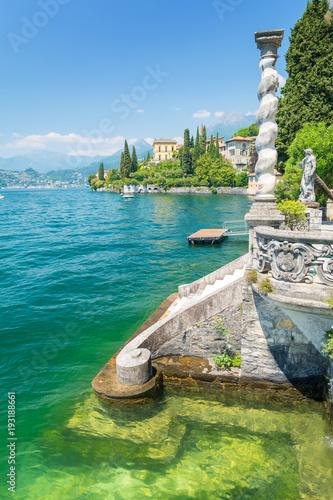 amazing lake Como in Varenna village, Italy Poster Mural XXL