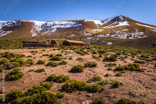 Foto op Canvas Zalm Atacama Desert, Chile - Landscape on the village of Machuca in the Atacama desert, Chile