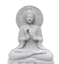 Thai Buddha Statue Isolated On...