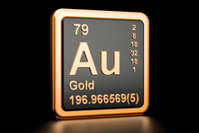 Gold Aurum Au Chemical Element...