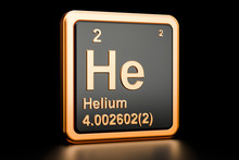 Helium He Chemical Element. 3D...