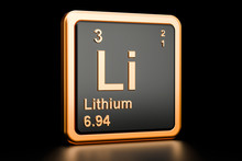 Lithium Li Chemical Element. 3...