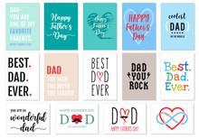 Father's Day Cards, Vector Set