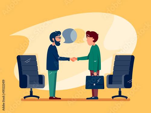 Obraz na płótnie Business conversation at meeting