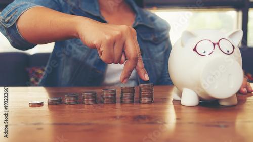 Valokuvatapetti Saving money concept