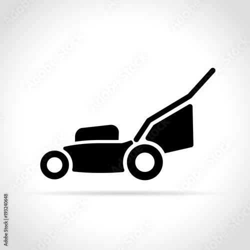 Tela lawn mower icon on white background