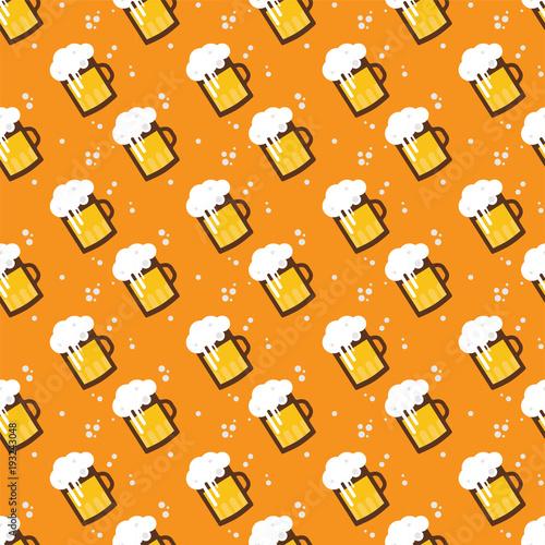 seamless-beer-pattern-beer-mugs-and-glasses-on-an-orange-background-st-patricks-and-octoberfest-illustration-vector-illustration