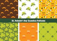 Set Of Seamless Background Pat...