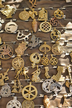 Medieval Copper Jewelry And Amulets
