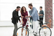 young people buying a new bike