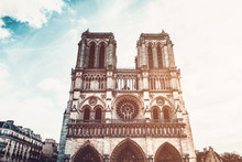 Notre-Dame Cathedral Against S...