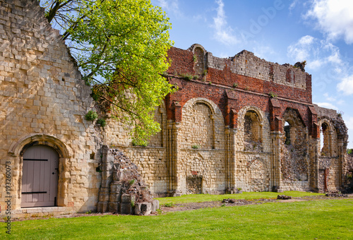 St Augustines Abbey Benedictine monastery remains in Canterbury Kent Southern En Canvas Print