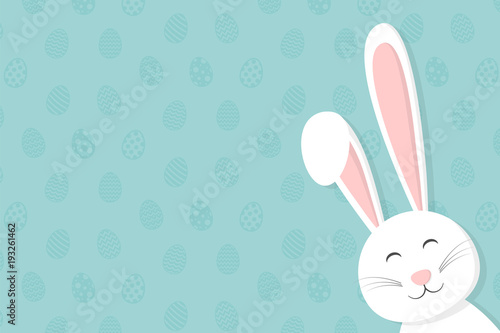 Fotografija Background with Easter bunny and copyspace. Vector.