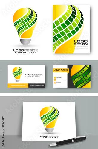 Photo  Light bulb eco concept logo