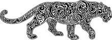 Panther, White-black Image