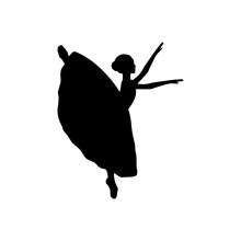 Girl Ballerina Silhouette Danc...