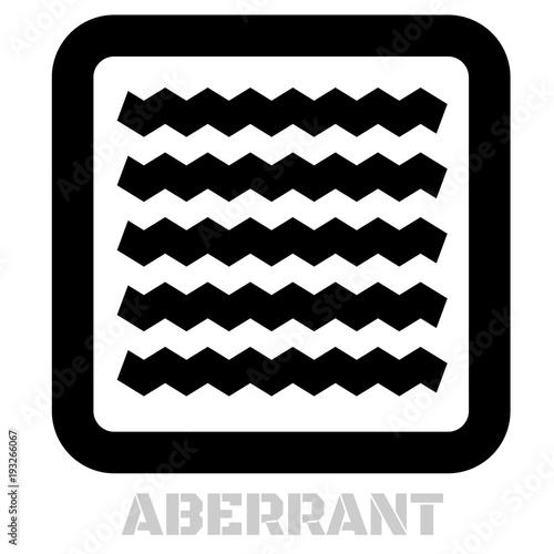 Aberrant conceptual graphic icon Wallpaper Mural