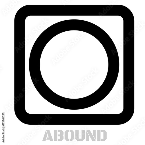 Photo Abound conceptual graphic icon