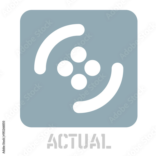 Photo  Actual conceptual graphic icon