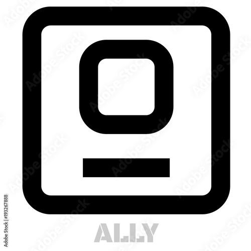 Photo Ally conceptual graphic icon